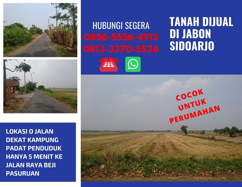 Tanah Murah Jabon Sidoarjo