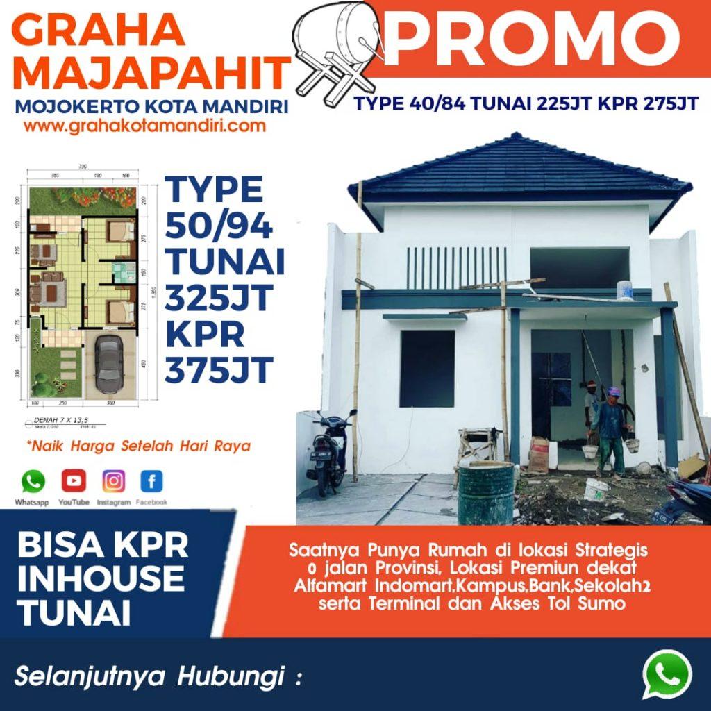 Promo Rumah Murah Dekat Terminal Mojokerto Kota