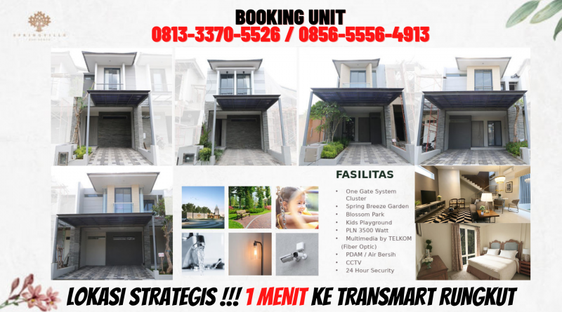 Perumahan Dekat MERR Surabaya, CALL : 0813-3370-5526
