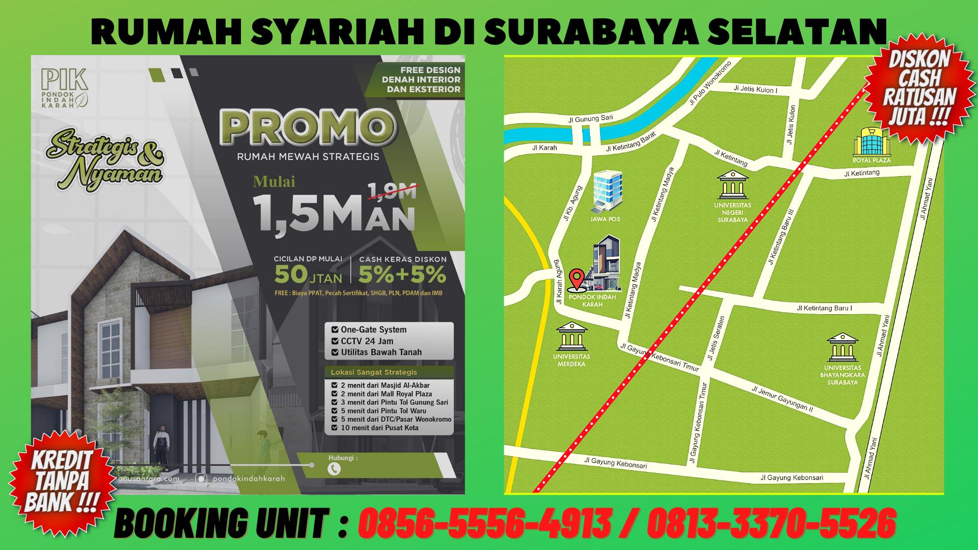 Kredit Rumah Syariah Surabaya, CALL : 0856-5556-4913